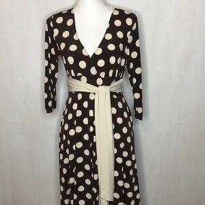Ruby Rox Faux Wrap 3/4 Length Sleeve Dress - LG